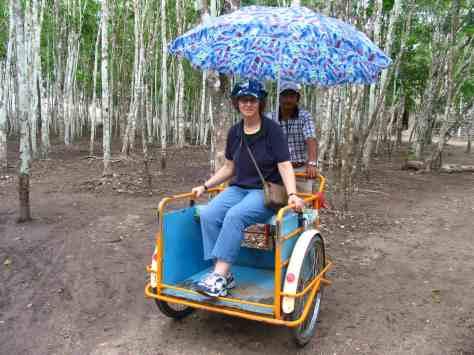 Linda in Mexico.