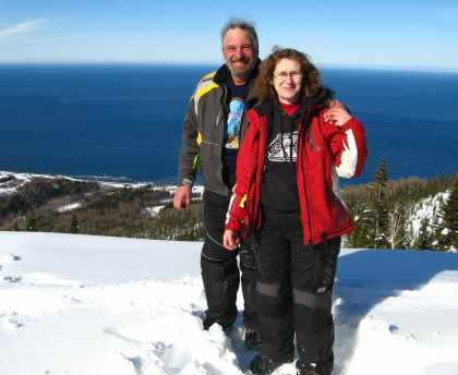 David Aksomitis & Linda Aksomitis (2010) in the mountains of Quebec