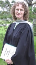 Linda Aksomitis convocating from the U of R in June, 2007 with MV/TEd degree.