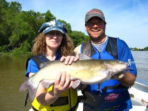 Linda Aksomitis fishing