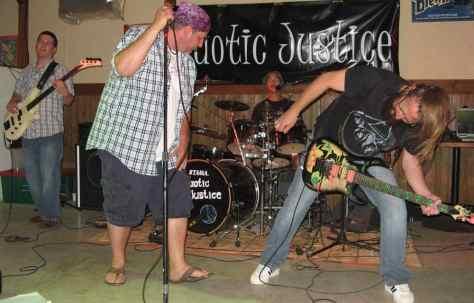 Kaotic Justice - a local band out of Qu'Appelle, Saskatchewan.