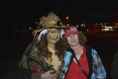 Linda with a witch!