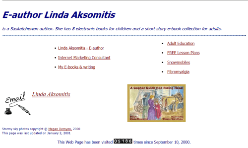 Homepage of Linda Aksomits