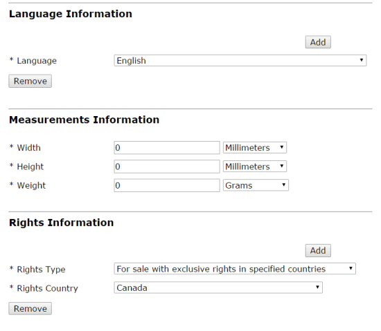 ISBN Language, Measurement, and Rights.