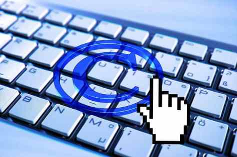 Copyright symbol and keyboard