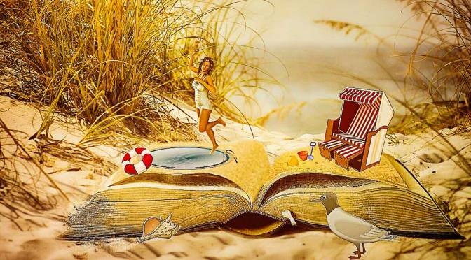 Book on a beach