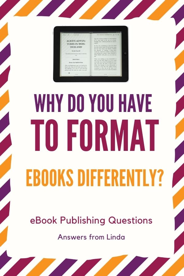 e-book publishing questions - answers from Linda, instructor for Publish and Sell Your Ebooks online course.